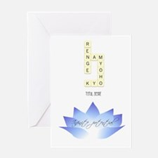 infinite potential - indigo lotus Greeting Cards