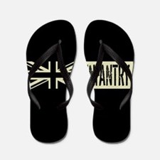 British Military: Infantry (Black Flag) Flip Flops