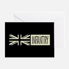 British Military: Infantry (Black Fl Greeting Card