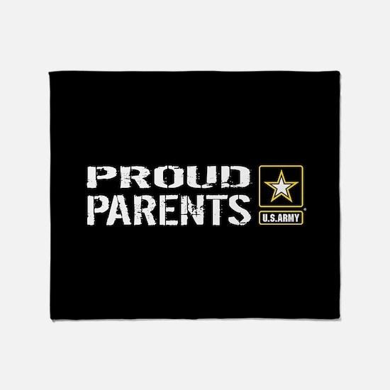 U.S. Army: Proud Parents (Black) Throw Blanket