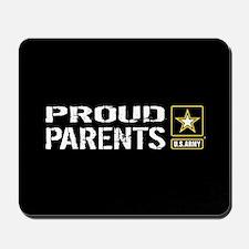 U.S. Army: Proud Parents (Black) Mousepad