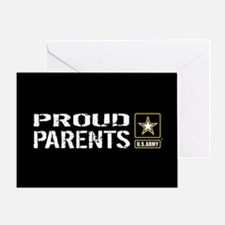 U.S. Army: Proud Parents (Black) Greeting Card