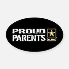 U.S. Army: Proud Parents (Black) Oval Car Magnet