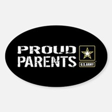 U.S. Army: Proud Parents (Black) Decal