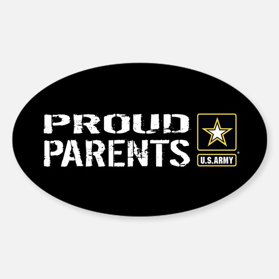 U.S. Army: Proud Parents (Black) Sticker (Oval)