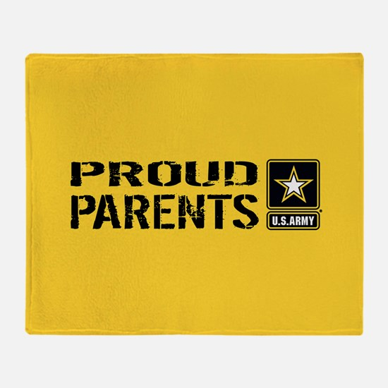 U.S. Army: Proud Parents (Gold) Throw Blanket
