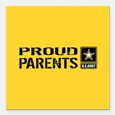 "U.S. Army: Proud Parents Square Car Magnet 3"" x 3"""