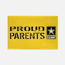 U.S. Army: Proud Parents (Gold) Rectangle Magnet
