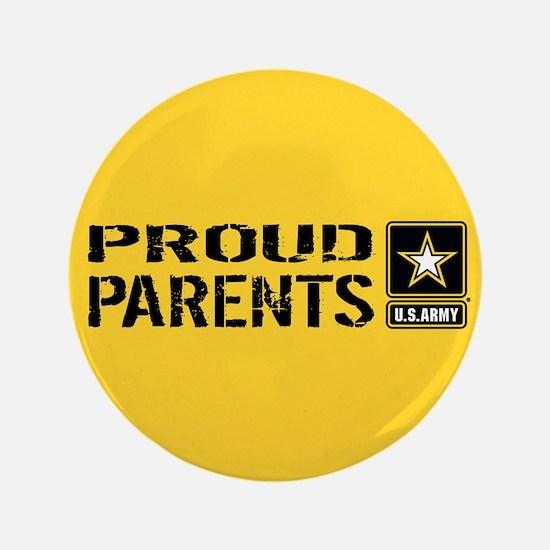 U.S. Army: Proud Parents (Gold) Button
