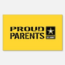 U.S. Army: Proud Parents (Gold Decal
