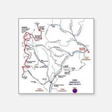 Old Rag Mountain trail map Rectangle Sticker