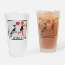 East Coast by Lner, Girl and Dog; V Drinking Glass