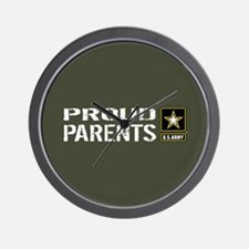 U.S. Army: Proud Parents (Military Gree Wall Clock