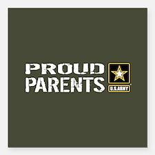 """U.S. Army: Proud Parents Square Car Magnet 3"""" x 3"""""""