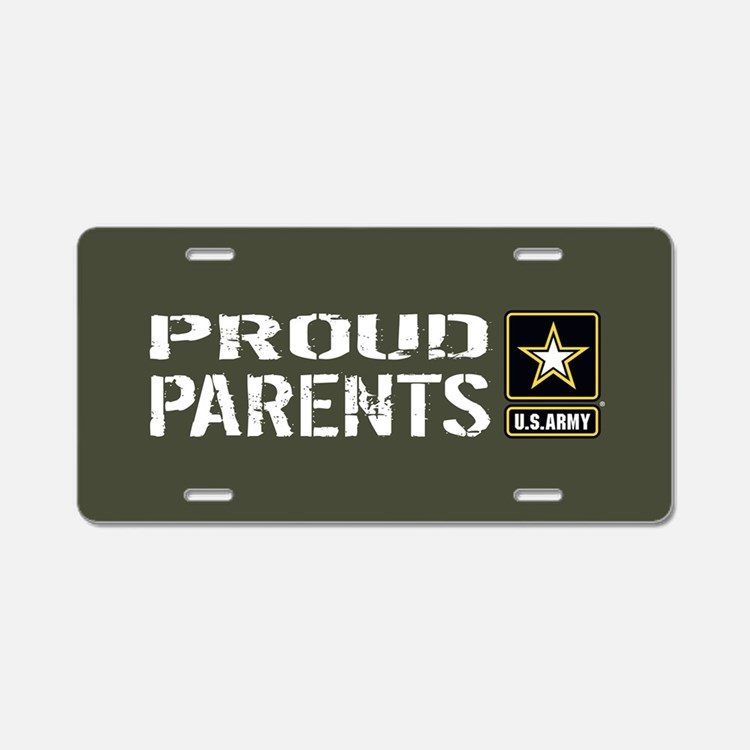 U.S. Army: Proud Parents (M Aluminum License Plate