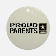 U.S. Army: Proud Parents (Sand) Round Ornament