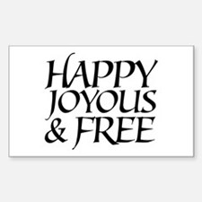 Happy Joyous & Free Oval Decal