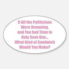 Politicians Sandwich Bumper Stickers