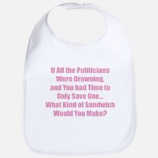 Politicians Sandwich Bib