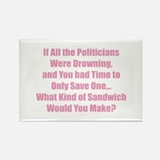 Politicians Sandwich Magnets