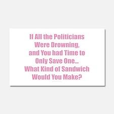 Politicians Sandwich Car Magnet 20 x 12