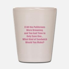Politicians Sandwich Shot Glass