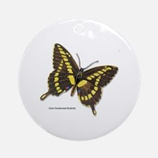 Giant Swallowtail Butterfly Ornament (Round)