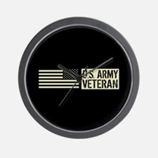 U.S. Army: Veteran (Black Flag) Wall Clock