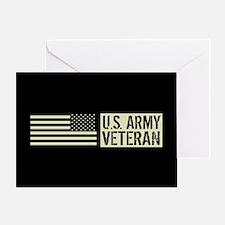 U.S. Army: Veteran (Black Flag) Greeting Card