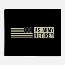 U.S. Army: Retired (Black Flag) Throw Blanket