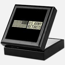 U.S. Army: Retired (Black Flag) Keepsake Box