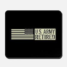 U.S. Army: Retired (Black Flag) Mousepad