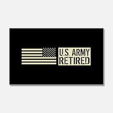 U.S. Army: Retired (Black Flag) Car Magnet 20 x 12