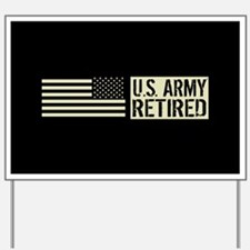 U.S. Army: Retired (Black Flag) Yard Sign