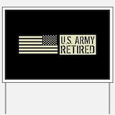 U.S. Army Retired: Black Military U.S. F Yard Sign