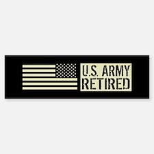 U.S. Army: Retired (Black F Bumper Bumper Sticker