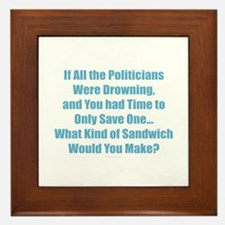 Politicians Sandwich Framed Tile