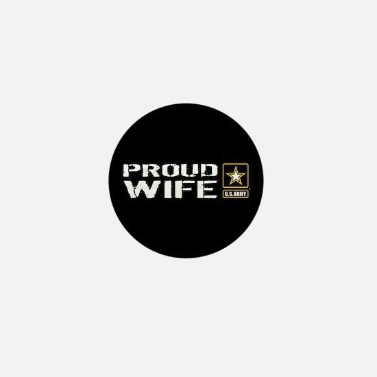 U.S. Army: Proud Wife (Black) Mini Button