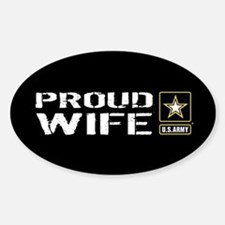 U.S. Army: Proud Wife (Black) Decal