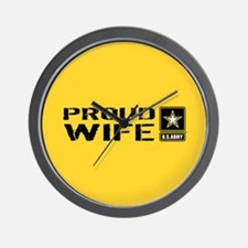 U.S. Army: Proud Wife (Gold) Wall Clock