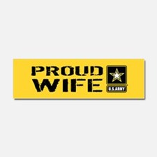 U.S. Army: Proud Wife (Gold) Car Magnet 10 x 3