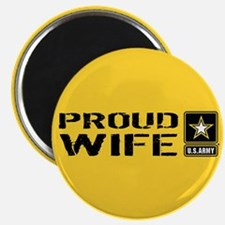 """U.S. Army: Proud Wife (Gold 2.25"""" Magnet (10 pack)"""
