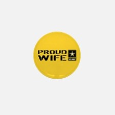 U.S. Army: Proud Wife (Gold) Mini Button (10 pack)