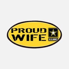 U.S. Army: Proud Wife (Gold & Black) Patch