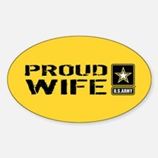 U.S. Army: Proud Wife (Gold) Decal
