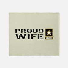 U.S. Army: Proud Wife (Sand) Throw Blanket