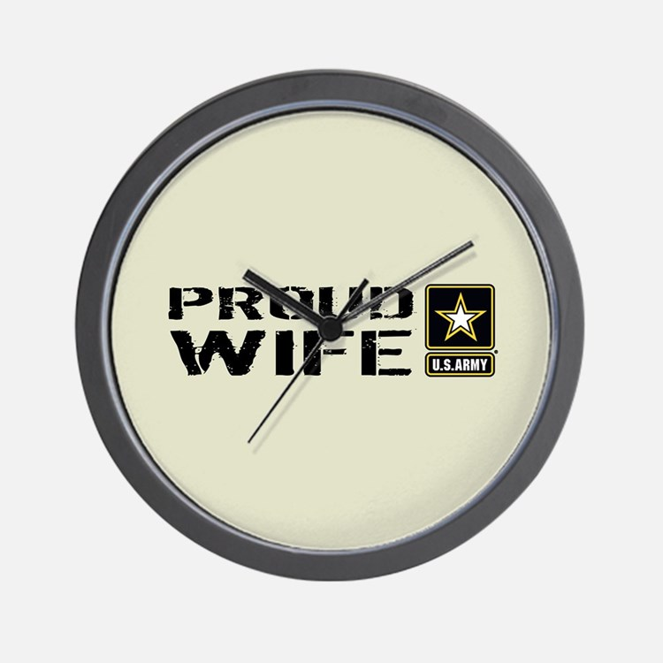 U.S. Army: Proud Wife (Sand) Wall Clock