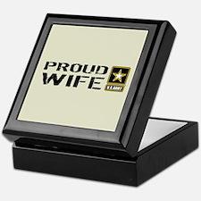 U.S. Army: Proud Wife (Sand) Keepsake Box
