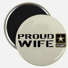 "U.S. Army: Proud Wife (Sand 2.25"" Magnet (10 pack)"