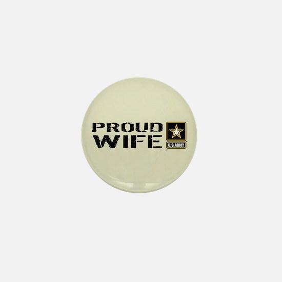 U.S. Army: Proud Wife (Sand) Mini Button